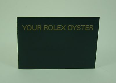 Genuine Rolex booklet vintage Your Rolex Oyster instruction 2003 USA