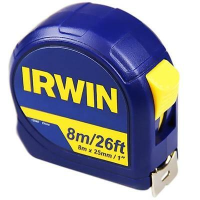 IRWIN Professional Pocket Tape 8m/26ft (Width 25mm) Carded Nylon Coated