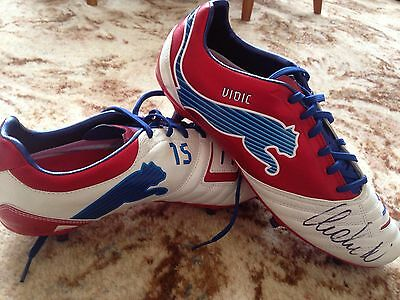 Nemanja Vidić Signed Manchester United Match Worn / issue Puma Football Boots