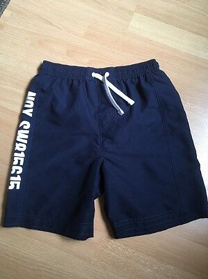 M&S Boys Navy Blue Swimming Trunks Shorts Age 9-10 Years