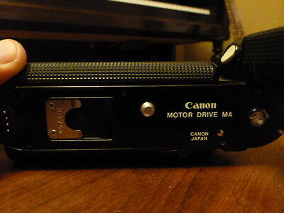 Canon Motor Drive and battery pack MA A1/AE1 Program + YIC Power winder