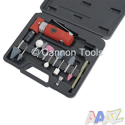Angled Air Die Grinder Kit with grinding stones Kit includes carry case