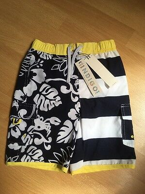 NEW M&S Indigo Collection Boys Swimming Trunks Shorts Age 4-5 Years