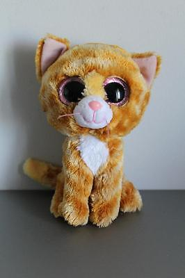 "Ty Beanie Boo Tabitha (Ginger Cat) 6"" Retired Rare 2014 Preloved"