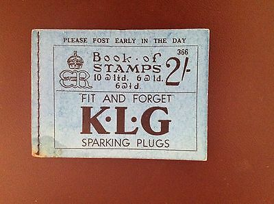 Great Britain 1936 Booklet SGBC2 Complete But Panes Stuck to Ad Pages