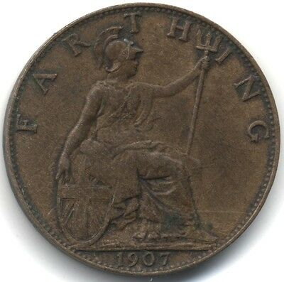 1907 Edward VII Farthing***High Grade***Collectors***
