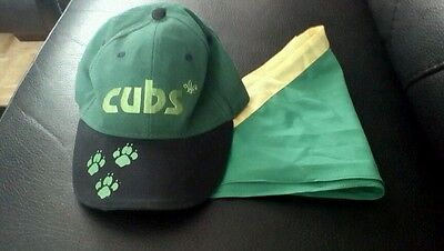 Cubs Scouts Green Cap And Necca Very Good Condition Official Scout Shop