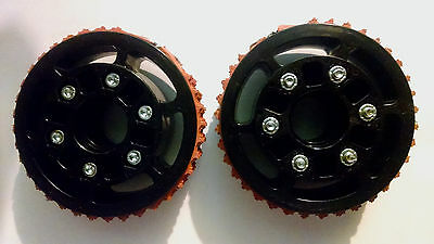 AndyMark PLACTION WHEEL PAIR 4IN DIAMETER ROUGHTOP TREAD - AM-2404