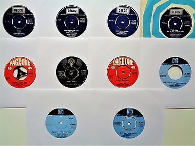 """VINYL RECORDS 45s LOT Vanity Fare Pickettywitch Candlewick Green 10 x 7"""" Singles"""