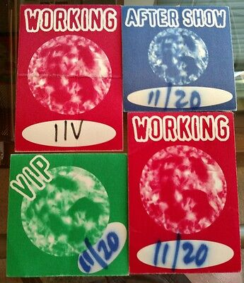 RARE GARBAGE Working Aftershow VIP Backstage Passes 1996
