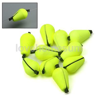 6Pcs Yellow Floating Foam Strike Indicator Fly Fishing Fisher Accessories