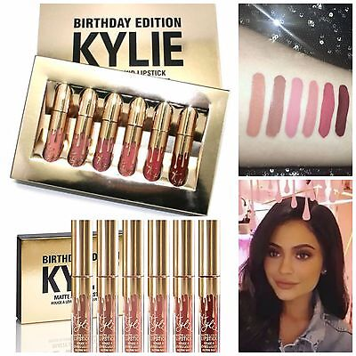 ❤ORIGINALE❤ Kylie Jenner Birthday Edition LIP KIT 6 ROSSETTI Lipsticks Lipstick