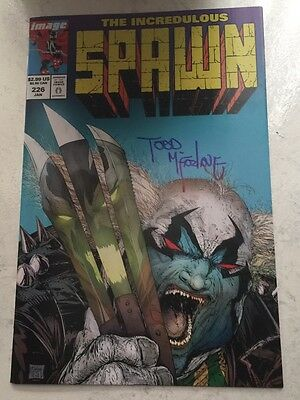 Spawn Comic #226 Comic Book NM -Condition Todd Mcfarlane Homage Color  Signed