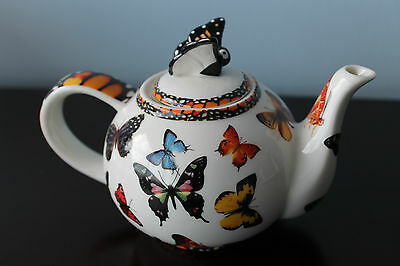 TEAPOT  Paul Cardew - Butterflies   Small 2-cup