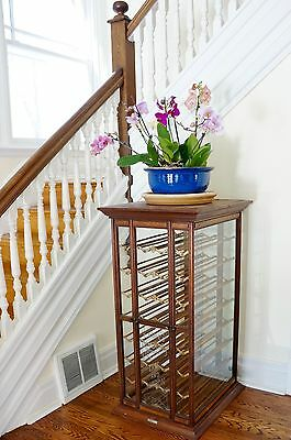 Antique ribbon cabinet... old general store display case.