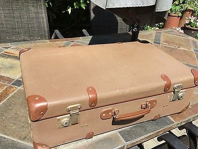 Vintage suitcase with leather corners good condition