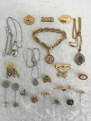 Avon Representative Awards (20) Pins, Broaches,necklaces,bracelet Rare Jewellery
