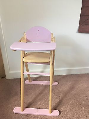 Wooden Dolls High Chair – collection from Warrington