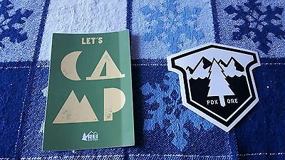 REI camping and Next Adventure Stickers