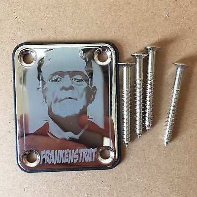 Custom Frankenstrat Horror Neck Plate For Fender Stratocaster Guitar Strat