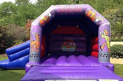 for sale commercial bouncy castle combo with slide scooby doo 17x15 exc cond