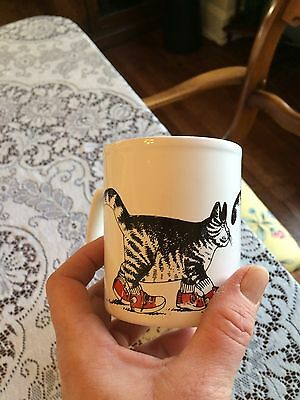Vintage B. Kliban Cat Red Sneakers Mug Kiln Craft Made In England Kitty 8 Oz