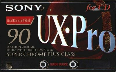 7x Sony UX Pro 90 Blank Audio Cassette Tape Super Chrome Plus New Factory Sealed