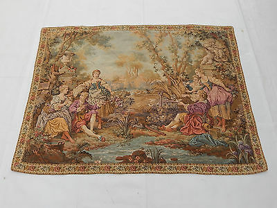 Vintage French Beautiful Scene Tapestry 138x105cm (T1055)