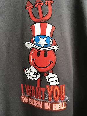 NOS World Industries Devilman I want YOU… tshirt large Charcoal Blind WI BNWT