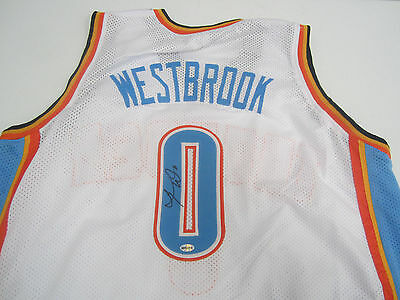 Russell Westbrook Signed OKC Thunder Jersey / 4th Overall Pick 2008 NBA Draft
