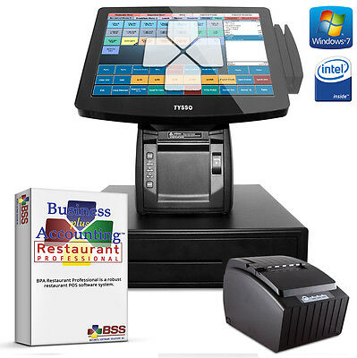 One Station ALL-IN-ONE TOUCH Restaurant Point-of-Sale PC system AIO POS