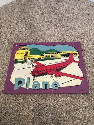 Vintage Frame Wood WOODEN Puzzle: Sifo Toys Airplane complete Super RARE