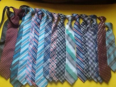 17 Boys Clip On Ties Lots Of Colors And Styles Great For All Occasions GUC