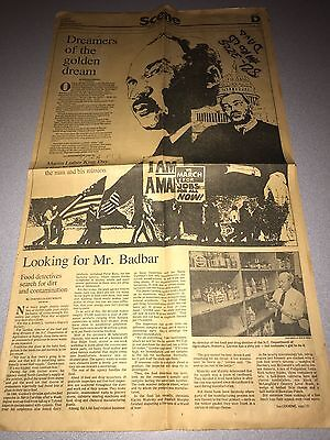 Great MARTIN LUTHER KING JR. Assassination Civil Rights 1968  Newspaper