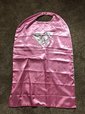 Superhero Super girl Lined Superhero Comic Fancy Dress Cape Adult