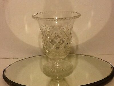 Vintage Cut Glass/crystal Vase Lovely Shape,and Quality