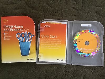 Microsoft Office Home and Business 2010 Full Retail Version w/Product Key