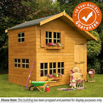Childrens Wooden Playhouse 8x6 Bramble T&G Outdoor Wendy House