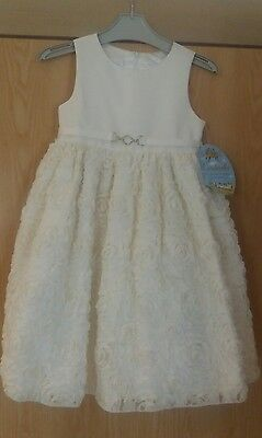 cinderella ivory flower girl/bridesmaid/party/pagent dress, age 5