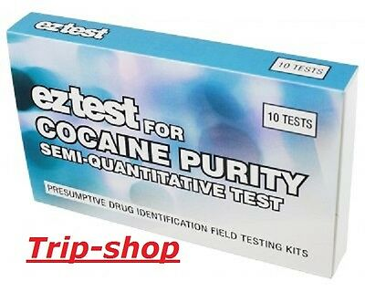 EZ-Test Cocaine Purity Semi Quantitative Drogenschnelltest drug test 10 Tests
