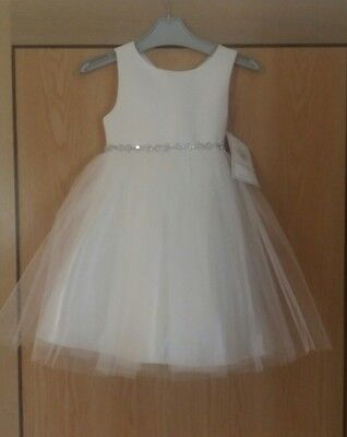 couture princess ivory flower girl/bridesmaid/party/pagent dress, age 5