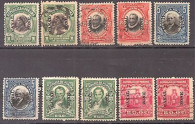 Canal Zone   Sc# 31/33-60/61   Used  1909/21    Cat Val $17