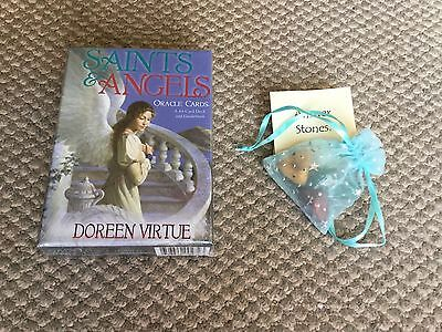 Saints and Angels Oracle Cards. New, sealed! Free answer stones! Doreen Virtue.