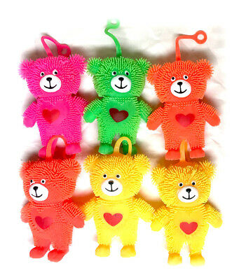 Puffer Teddy Bear Squeeze Abreact Toy Anti Stress Reliever Ball ADHD Autism Mood