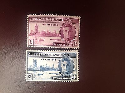 Gilbert & Ellice 1946 Victory Set MNH