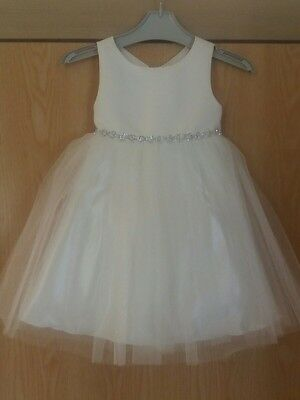 couture princess ivory flower girl/bridesmaid/party/pagent dress, age 3