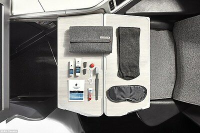 Brand NEW AIR CANADA FIRST BUSINESS CLASS GREY SOFT AMENITY KIT BAG POUCH SEALED