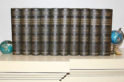 RARE 1890 AMERICANIZED Encyclopedia Britannica Vo. 1-10