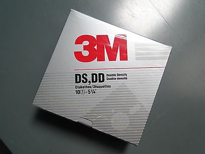 """3M DS,DD Double Density 5¼"""" diskettes, box of 10, sealed and unopened"""