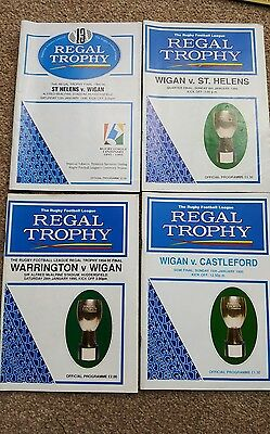 Wigan Rugby League Programmes - Regal Trophy 1995 1996